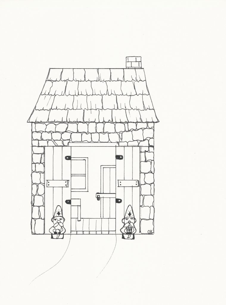 Potting shed with gnomes. From Growing Together Through Openness: The Art of Allowing